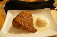 Grilled Pumpkin Pound Cake w/Salted Caramel Ice Cream, Mache, Bar Harbor