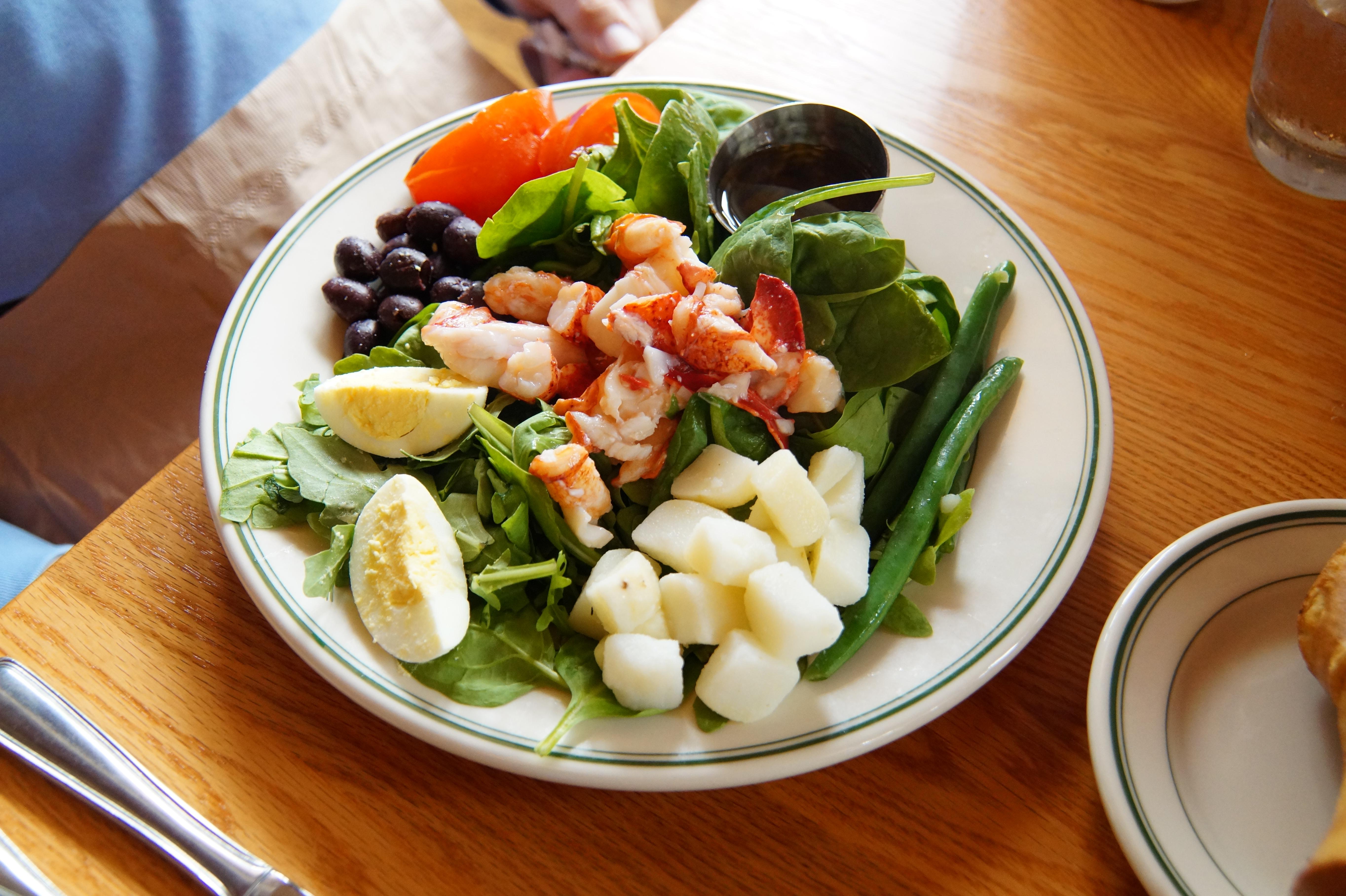 Jordan Pond House Maine Lobster Nicoise Salad 827